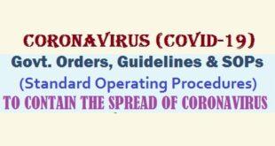Coronavirus - Orders